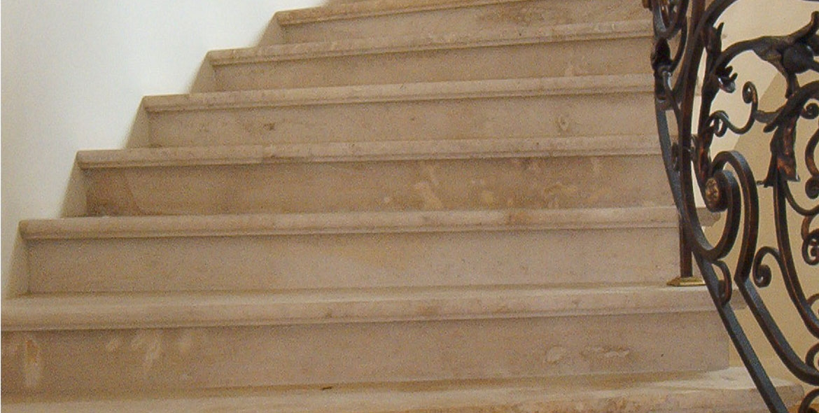 Stair made with the Beaunotte stone