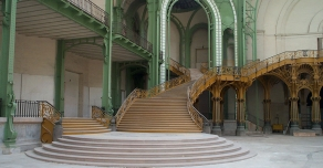 Great ceremonial stairway in the Grand Palais in Paris