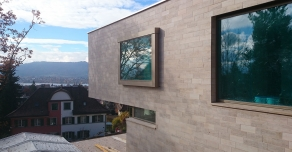 Facade in Beaunotte in Swissland