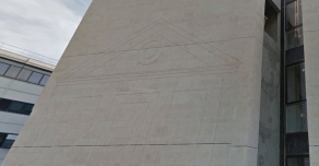 Facade in Semond on Saint-Cloud hospital