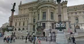Bases of the columns of the Opéra Garnier in Paris
