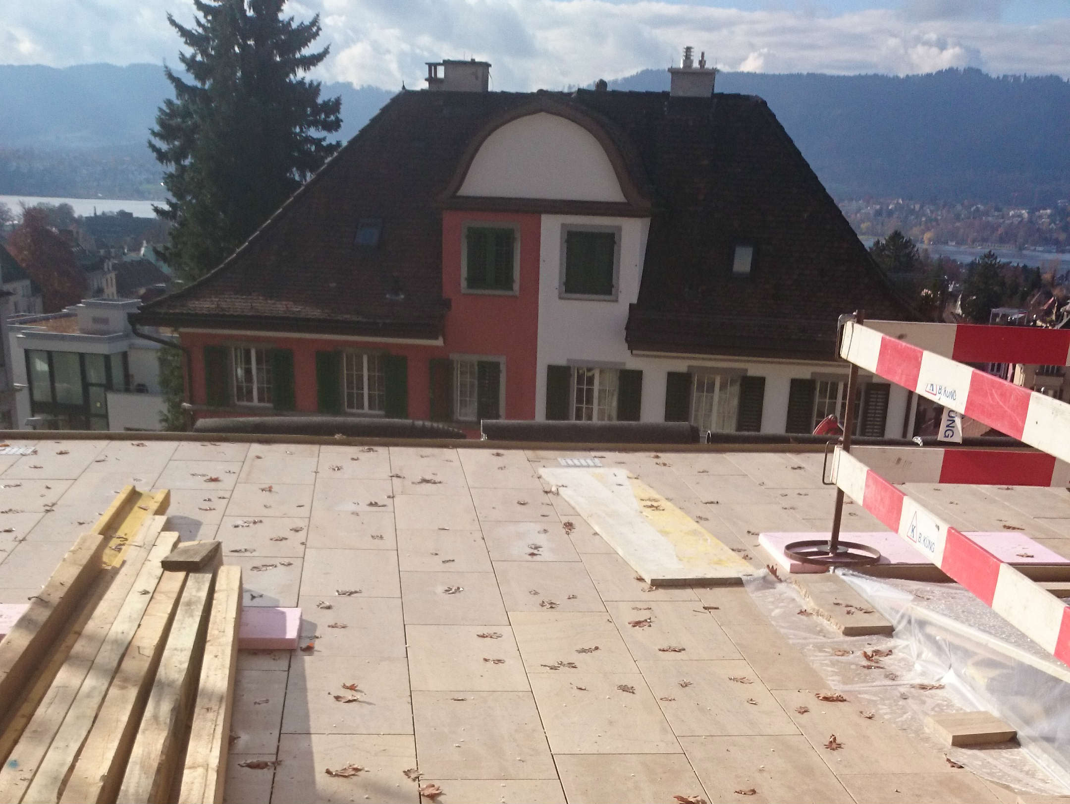 Terrace covering SETP Beaunotte zurich villa switzerland